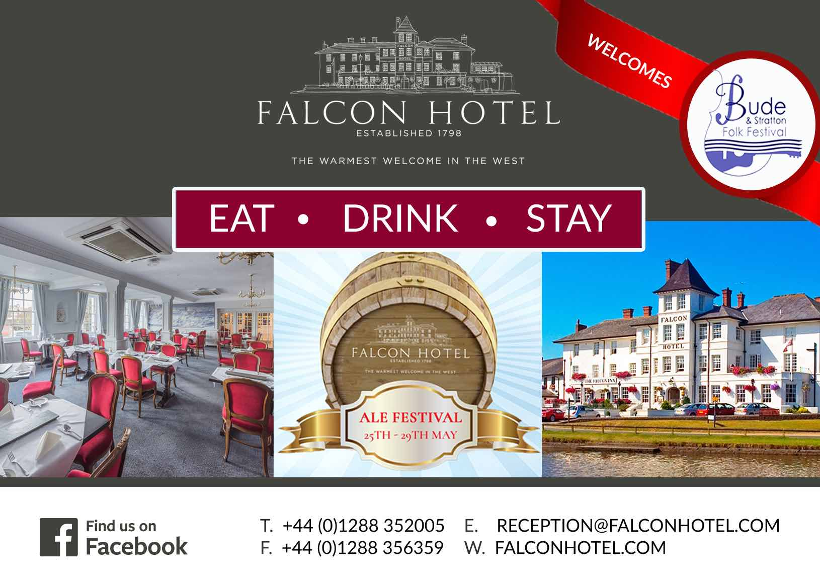 Ad for The Facon Hotel, Bude